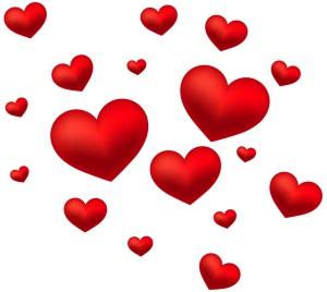 En massa hjärtan