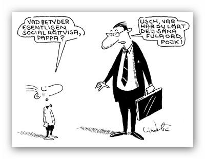 Tecknaren Lindströms syn på social rättvisa