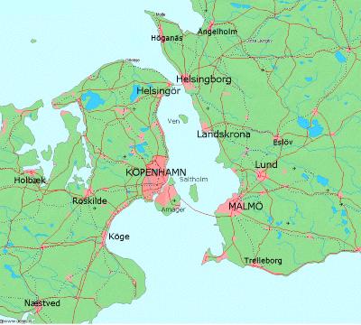 Skåne + Själland