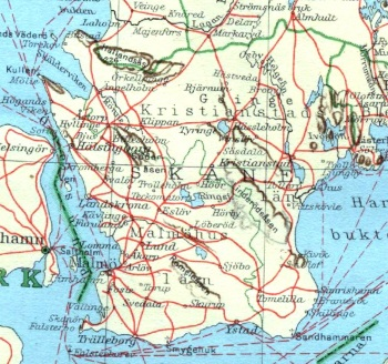 Skånska järnvägsnätet 1930