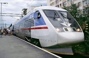 Ett gammalt snabbtåg