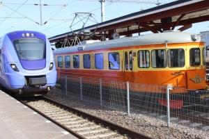 Nya och gamla tåg